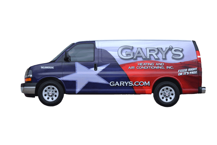 Gary's Heating and Air Conditioning, Inc. Van
